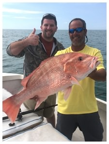 A red snapper caught this Spring on a Daytona Beach fishing charter with Captain Corey