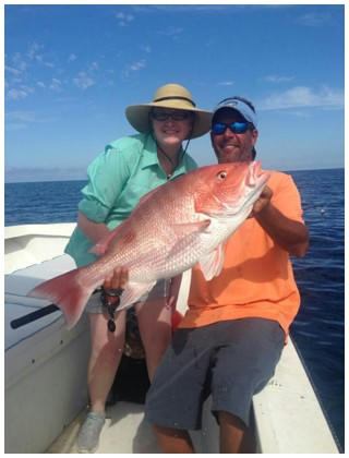 Another 30 pound Red Snapper caught with Captain Corey and On The Hook Charters in Daytona Beach