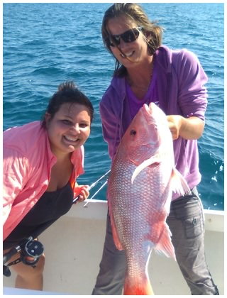 Melissa helps with another Snapper