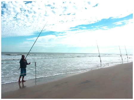 Surf fishing in Daytona Beach with On The Hook Charters