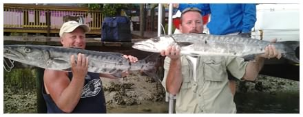 Barracuda caught with On The Hook Charters in Daytona Beach, Florida