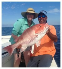 Over a dozen snapper species are found when reef fishing in Daytona Beach